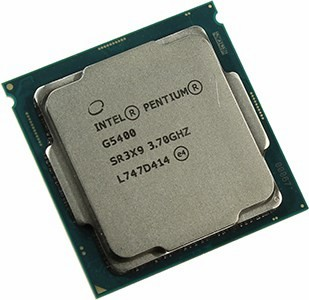 CPU Intel Pentium G5400  3.7 GHz/2core/SVGA UHD Graphics 610/ 4Mb/58W/8 GT/s LGA1151