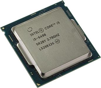 CPU Intel Core i5-6400  2.7 GHz/4core/SVGA HD Graphics 530/1+6Mb/65W/ LGA1151